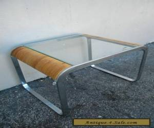 Mid-Century Glass-Top Side Table / End Table #2682B for Sale