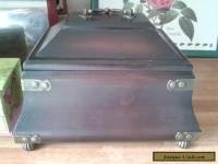 wooden box/brass trims...feet
