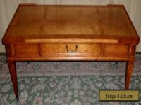 HERITAGE COFFEE TABLE Banded Mahogany With Drawer VINTAGE