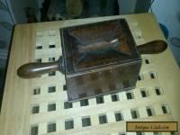 Antique wooden collection box/ money box.