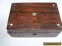 Vintage Wooden Box. Antique Jewellery Box inlaid with Mother of Pearl.