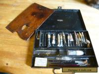 Antique Reeves artists box c1910 with contents and original mahogany palette