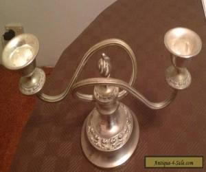 Vintage Silver Dual Candlestick Holder for Sale