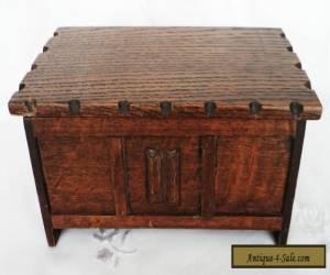 Vintage TALLENT Bond Street OAK WOOD CIGARETTE TRINKET BOX CHEST was musical ! for Sale