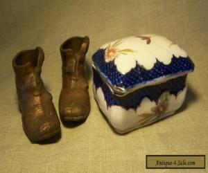 Antique/Vintage porcelain vesta plus two others. for Sale