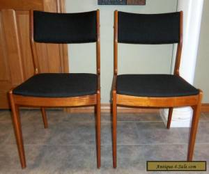 Pair of Vintage Mid Century Danish Modern Teak Dining Chairs for Sale