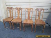 56261   Set of 4 Solid Oak MONA LISA Dining Chairs Chair s