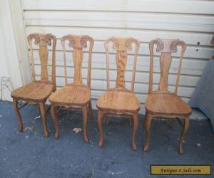 56261   Set of 4 Solid Oak MONA LISA Dining Chairs Chair s for Sale