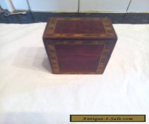 ANTIQUE  INLAID  CARD  BOX for Sale