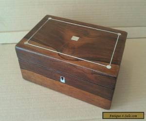 Beautiful Rosewood Antique Box (tea caddy or trinket/ jewellery box) for Sale
