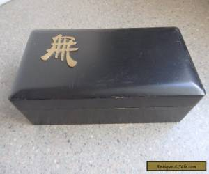 ANTIQUE BLACK HINGED BOX for Sale