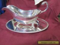 SILVER GRAVY BOAT WITH SPILL TRAY