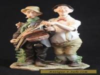 Capodimonte Morra The Fisherman Dilemma Porcelain Fishing Figurine