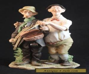 Capodimonte Morra The Fisherman Dilemma Porcelain Fishing Figurine for Sale