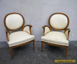 Pair of French Carved Living Room Side by Side Chairs 5546 for Sale
