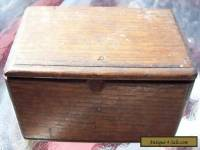 Antique Sewing Machine Wooden Box With Attatchments / 1889