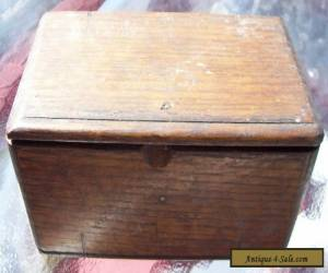 Antique Sewing Machine Wooden Box With Attatchments / 1889 for Sale