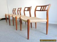 SET OF 4 MOLLER #79 TEAK DINING SIDE CHAIRS MID CENTURY DANISH MODERN