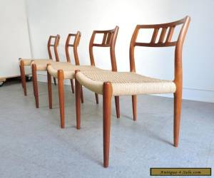 SET OF 4 MOLLER #79 TEAK DINING SIDE CHAIRS MID CENTURY DANISH MODERN for Sale