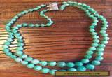 Antique Jade Necklace with Silver Clasp for Sale