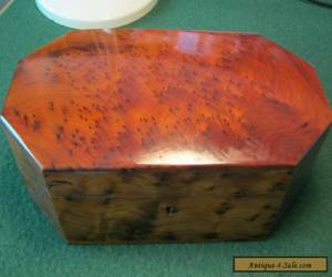 STUNNING WOODEN BOX WITH INSET TRAY for Sale
