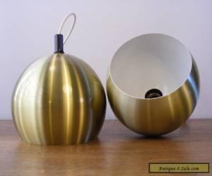 2 x VINTAGE 70's DDR AKA VEB lamp - Brass Design Danish Verner Panton Topan Era for Sale