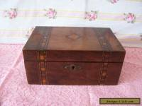 "ANTIQUE WOODEN  BOX 9"" X 5.5"""
