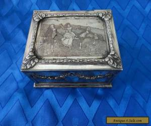 WMF Wurttembergische Metallwaren Fabrik Victorian Silver Plate Box Germany for Sale