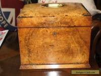 A lovely antique jewellery box with hidden drawer,