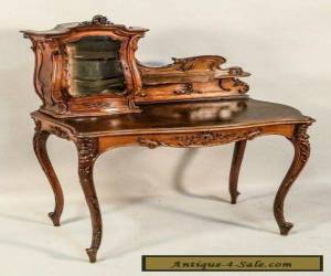 LOUIS XV STYLE WALNUT TABLE DESK AND CHAIR for Sale