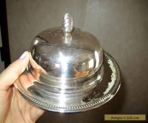 Oneida  Silver plated Round Butter Dish  for Sale