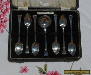 Solid Silver Art Deco Boxed tea spoon set  for Sale