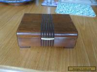 Small Antique Art Decco wooden box