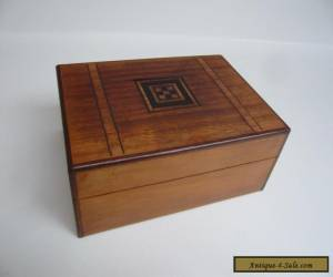 Vintage Wooden Inlaid Hinged Box - Possibly Sorrento Ware? for Sale