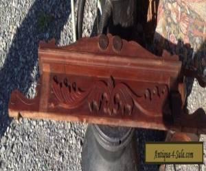 Pediment Solid Walnut carved Furniture topper Very Beautiful Victorian Era  for Sale