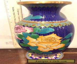 Beautiful Chinese Cloisonne Vase for Sale