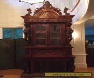 Antique 19th Century Renaissance Walnut Italian Cabinet for Sale