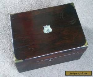 Antique Writing Slope Box for restoration, brass edges for Sale