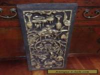ORIGINAL ANTIQUE ASIAN CARVED WOODEN PANEL