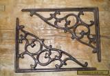 12 Cast Iron Antique Style SM Leave & Vine Brackets Garden Braces Shelf Bracket  for Sale
