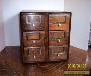 Antique Quarter Sawn Oak File Drawer Cabinet 6 Drawer Unit for Sale