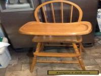 Vintage Solid Wood Windsor Style Highchair High Chair
