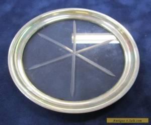 Sterling Silver Rimmed Glass Base,   Bottle/Glass Coaster for Sale