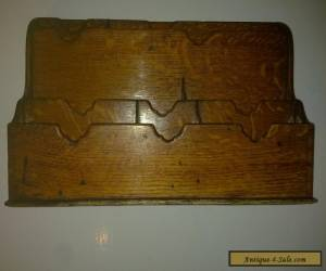 VINTAGE OAK LETTER STAIONERY RACK BOX. DESK TIDY for Sale