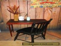 Vintage/ antique Leather Top Folding Writing ( Computer ) Desk Table Mahogony