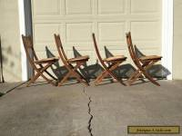 Mid century Folding Chairs in the Style of Hans Wegner