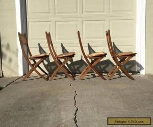 Mid century Folding Chairs in the Style of Hans Wegner for Sale