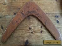 Vintage Aboriginal Souvenir Pokerwork Boomerang