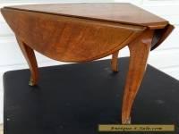 Mid Century Henredon Mahogany Drop leaf Sides Triangle Shaped Corner End Table
