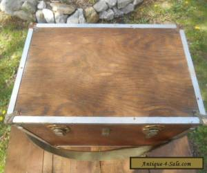 Vintage Folk Art Wooden Field Box Pistol Case Tote for Sale